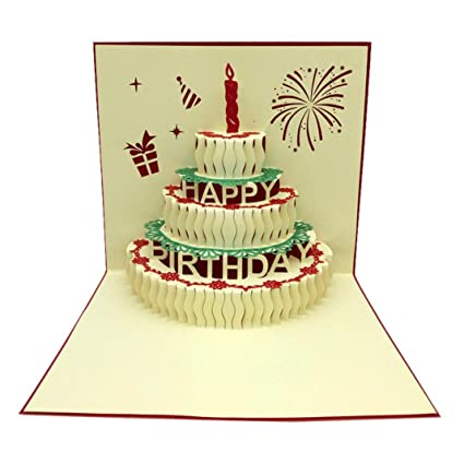 Amazon GBSELL 3D Pop Up Cards Valentine Lover Happy Birthday