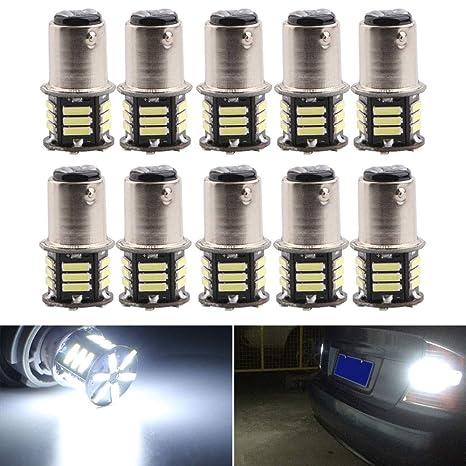 White 7000K 12V RV Camper Headlight H4 5050 18-LED Light Bulbs Backup Reverse