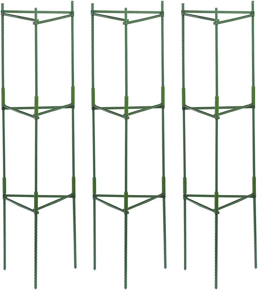 3-Pack Plant Cages Assembled Tomato Garden Cages Stakes Vegetable Trellis for Vertical Climbing Plants, Plant Support Stake