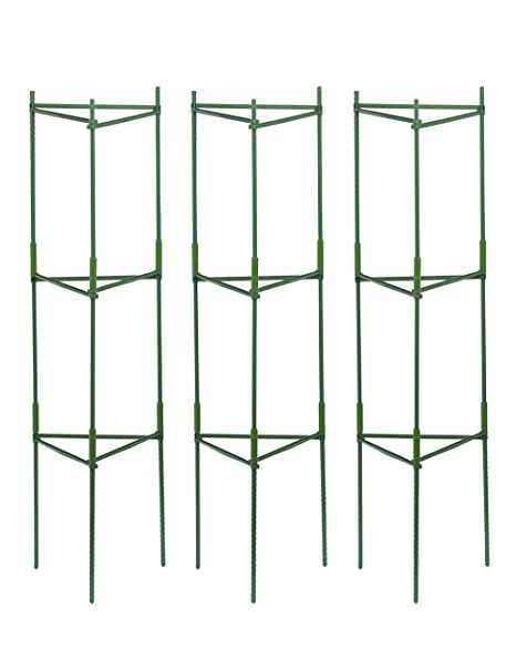 Yitai 3 Pack Plant Cages Assembled Tomato Garden Cages Stakes Vegetable Trellis For Vertical Climbing Plants Garden Plant Support Stakes