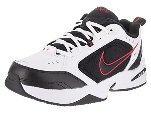 338e58c008284 Amazon.com | Nike Air Monarch Iv White/Black/Varsity Red Soccer ...
