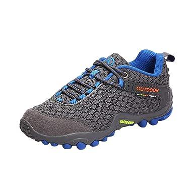 ZODOF Botas de Montaña para Hombres, Zapatos de Trekking, Zapatillas de Escalada para Caminar
