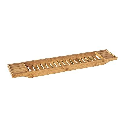 SoBuy FRG212-N,ES Bandeja de Bambú para Bañera,Estante de Baño,