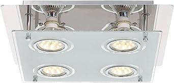 LED Decken Lampe Design Leuchte Bronze Glas Beleuchtung Wohn Zimmer Strahler