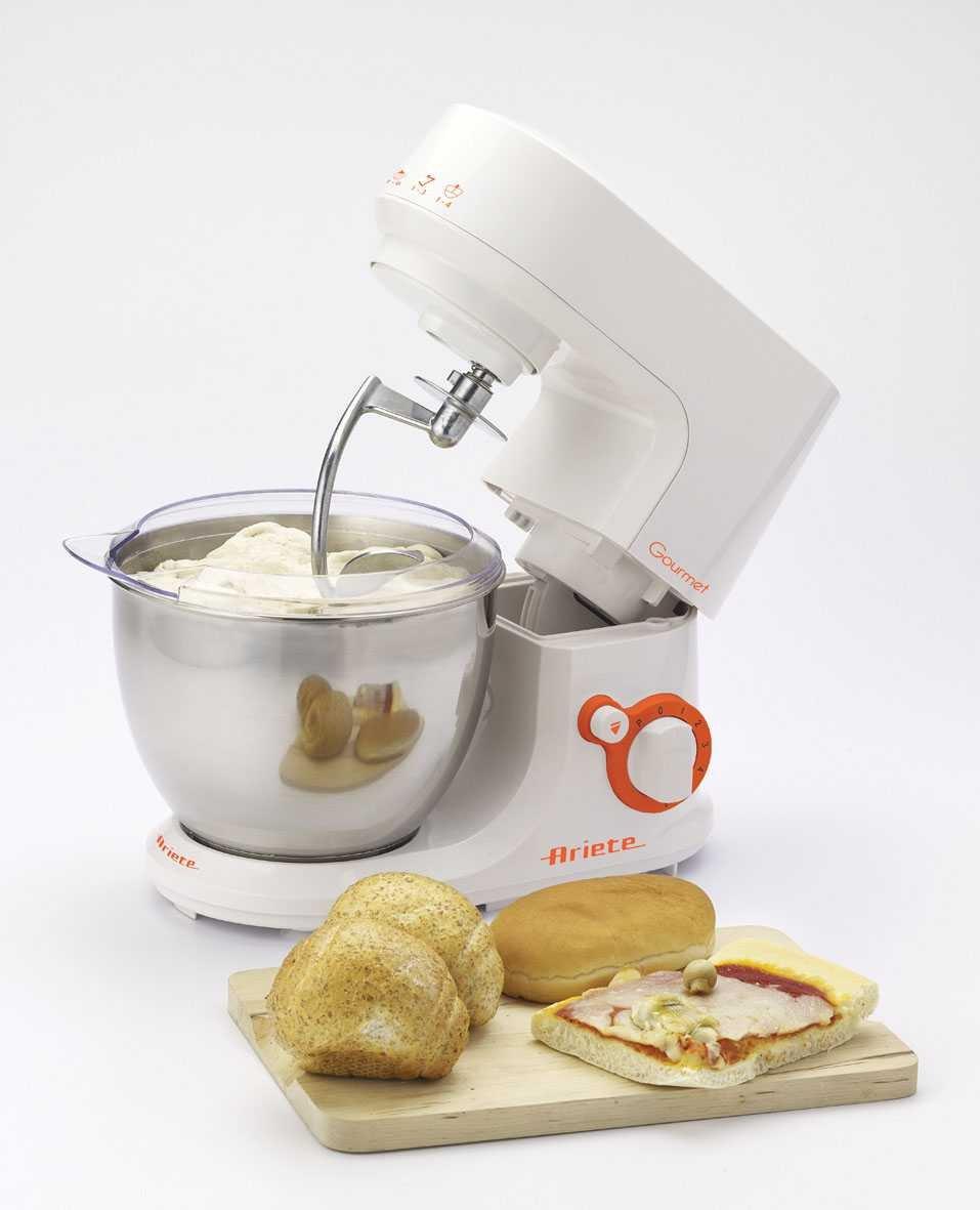 Ariete 1597 Robot DE Cocina Gourmet PASTAMATIC, 500 W, Acero Inoxidable, 6 Velocidades, Naranja, Blanco: Amazon.es: Hogar