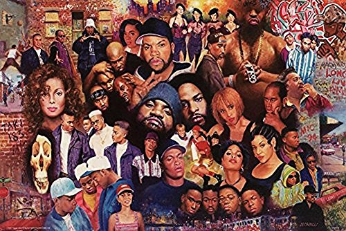 Legends Of Rap And Hip Hop 80Sand 90S 24X16 Art Print Poster   Ll Cool J Janet Jackson Run Dmc Nwa Public Enemy Salt N Pepper Public Enemy Tupac Shakur Dr Dre Tlc Ice Cube