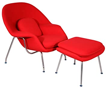 MLF Eero Saarinen Womb Chair U0026 Ottoman (8 Colors). Premium Cashmere U0026 High