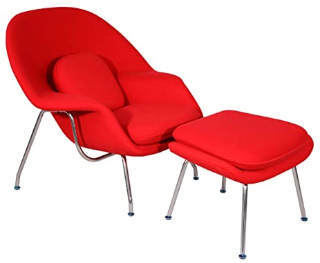 Charmant MLF Eero Saarinen Womb Chair And Ottoman, High Density Foam Cover On  Fiberglass, High