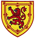 Scotland Coat Arms Patch Lion Rampant Shield Embroidered Iron-On Royal Standard