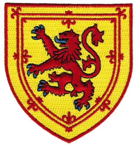Scotland Coat Arms Patch Lion Rampant Shield Embroidered Iron-On Royal Standard (Patch The Lion)