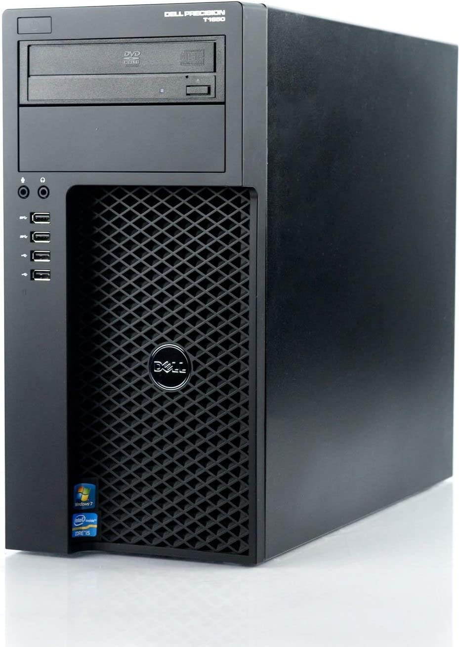 Dell Precision T1650 Tower Workstation Business Desktop Computer, Intel Quad-Core i7-3770 up to 3.90 GHz, 8GB RAM, 1TB HDD, DVD, WiFi, USB 3.0, Windows 10 Professional (Renewed)