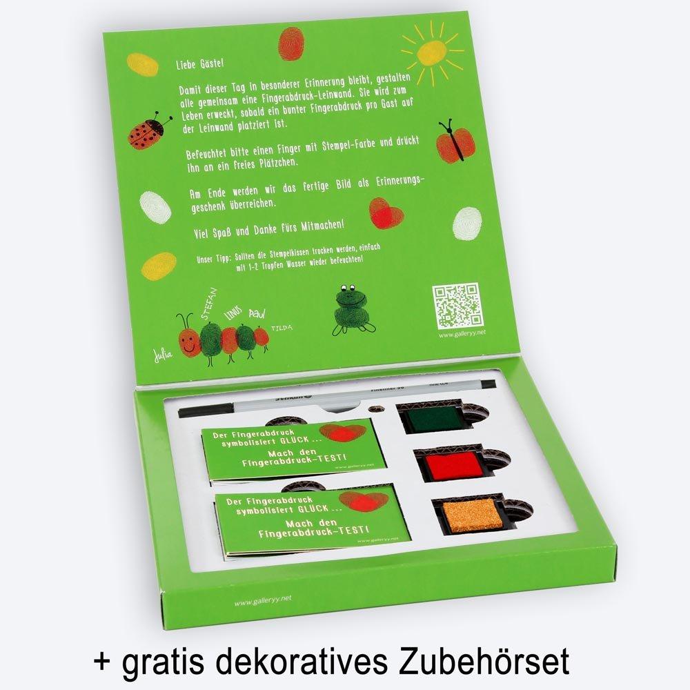 Fingerabdruck Baum Leinwand - Wishingtree G/äste galleryy.net Fingerabdruck Leinwand 45x30 INKL Zubeh/ör-Set GRATIS Stempelkissen+Stift+Anleitung+Hochzeitsbuch+...