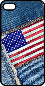 DSSEE American Flag Levis Style Hard Plastic Skin Cover Case for Iphone 4/4s