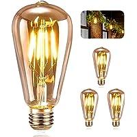 Vintage Edison Bombilla, ASANMU Bombilla LED Vintage E27 ST64 4W (Equivalente a…