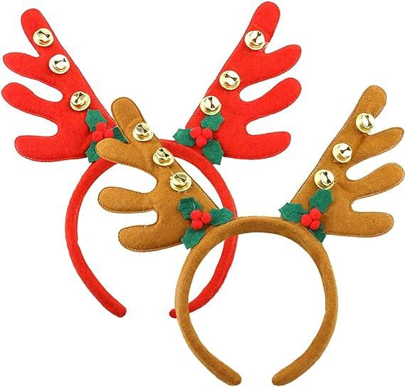 Diadema Cuernos Reno Cuernos Ciervo Disfraz Decoracion Navidad ...