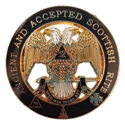 HIRAM - Grand pin's Maçonnique Franc Maçon - Badge - RITE ÉCOSSAIS ANCIEN ET ACCEPTE