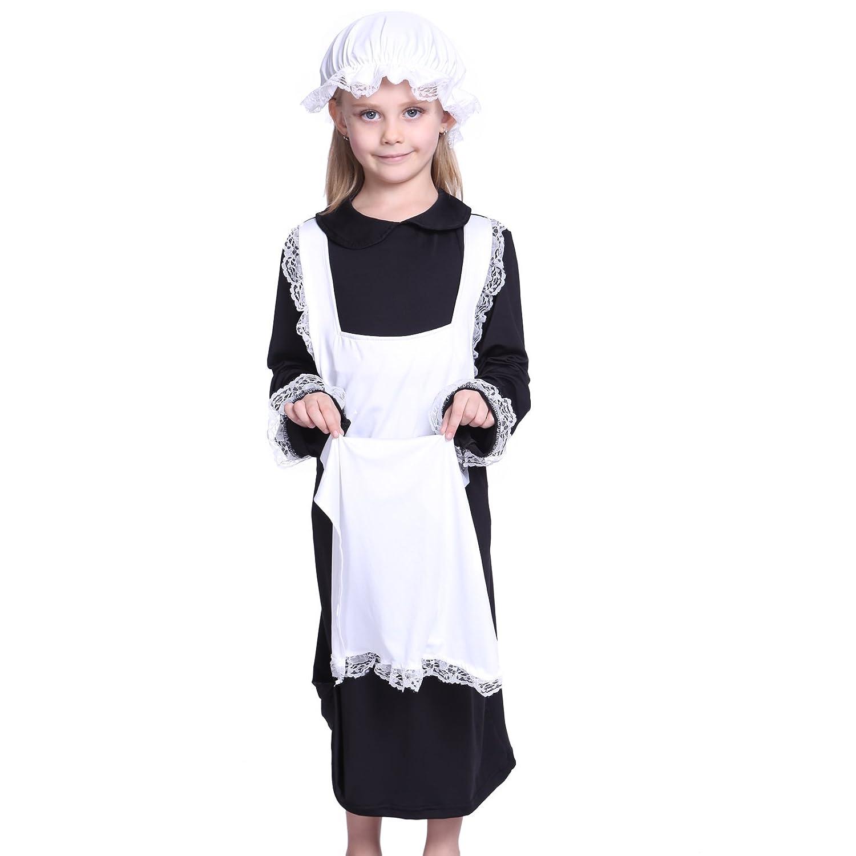 White tudor apron - Victorian Poor Girl S Fancy Dress Servant Girl Street Urchin Child Kid Costume Amazon Co Uk Clothing