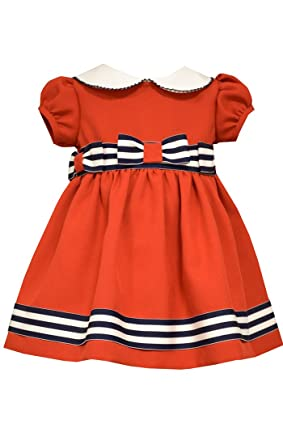 Bonnie Jean Baby-Girls Navy Stripe White Dot Sailor Pant Set