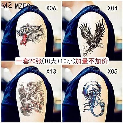 Tatuaje Un Conjunto De 10 Pegatinas De Tatuaje Grandes Realistas ...