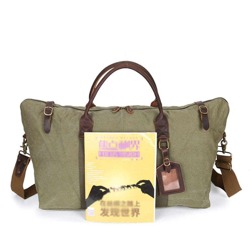 HWX Unisex New Travel Bag Portable Large Capacity Wear-Resistant 100/% Cotton Canvas Bag Luggage Bag Large Duffel Bag