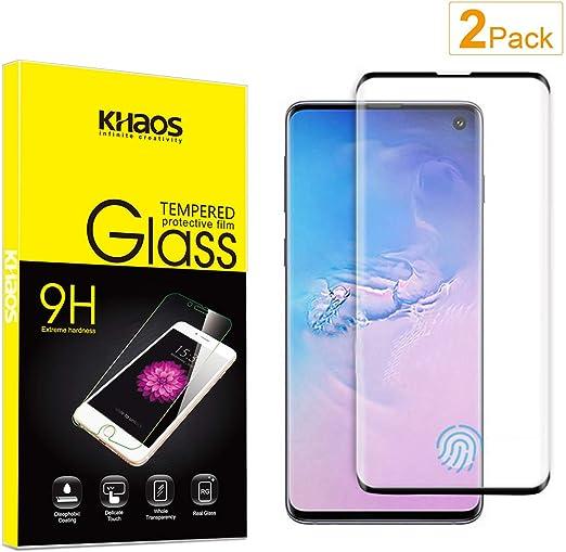 4 Pack Fingerprint Proof Bear Village HD Screen Protector Film for Samsung Galaxy S10 Anti Scratch Tempered Glass Screen Protector for Galaxy S10