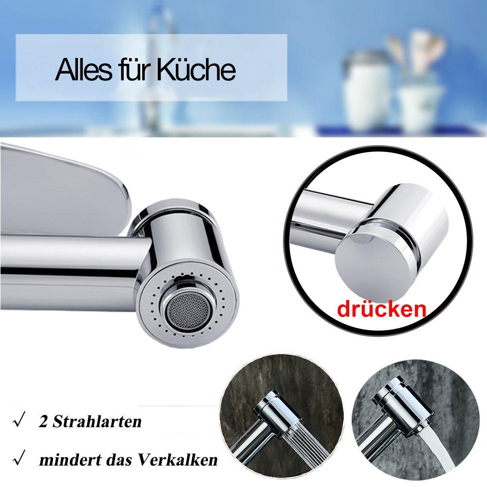 Peppermint Küchenarmatur Einhebelmischer Spültischarmatur Wasserhahn ...