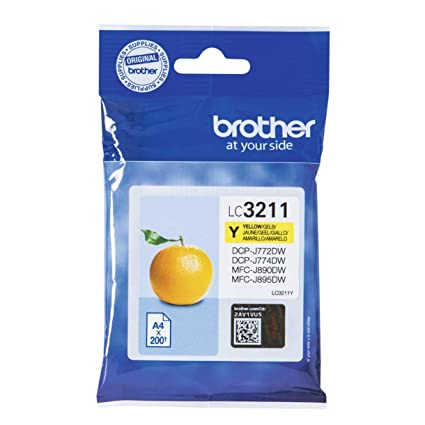 Brother LC3211Y Cartucho de tinta amarillo original para las ...
