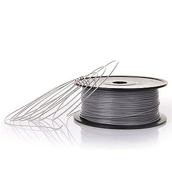 PLA Materiales de impresión 3D de filamento, 1.75mm, 1Kg, para Anet A8 y Anycubic Impresoras 3D (Negro)