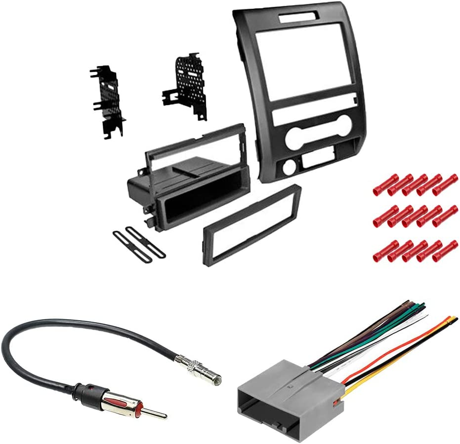 Android Auto Backup Camera//Install Dash Kit CACH/É KIT4346 Bundle Car Stereo for 2013 Apple CarPlay 5Item 2014 Ford F150 Classic Dash W//Digital Media Receiver 7 Display Built in Bluetooth
