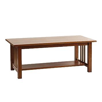 Amazoncom Adeptus Missionstyle Wood Sofa Cocktail Table Kitchen
