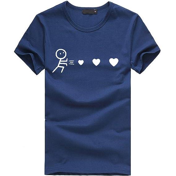 74615d413 MN1Z10-Beikoard Blusa Suelta De Mujer Manga Corta Camiseta con Estampado De  Corazones ❤ Tops
