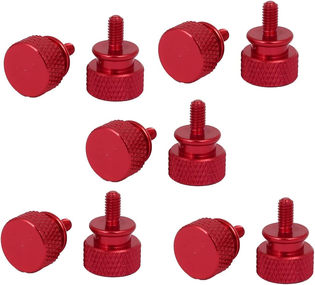 uxcell Computer PC Case M3x7mm Aluminum Alloy Knurled Thumb Screws Wine Red 10pcs
