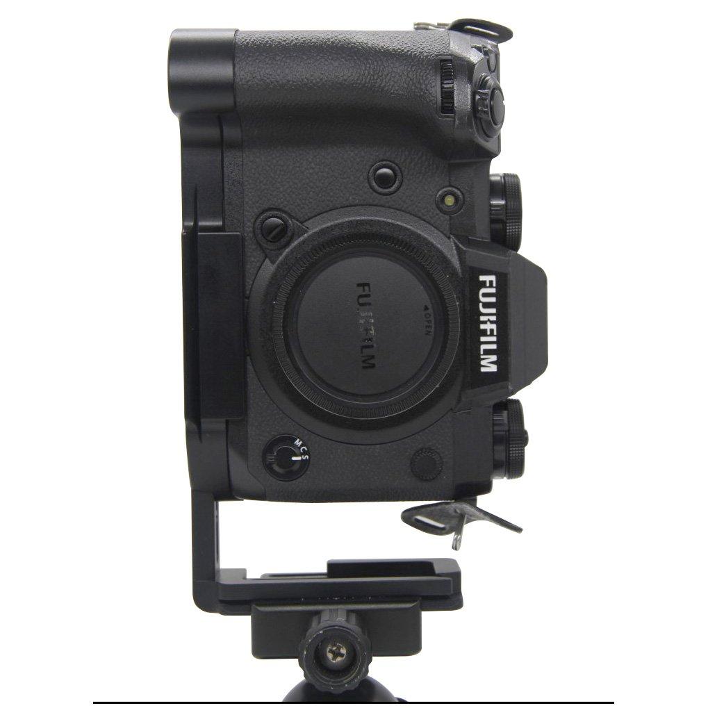 FOTOMIX LB-XH1 for Fujifilm X-H1 Camera L-Plate Bracket Quick Release Hand Grip Black Metal CNC, Stranchable Design