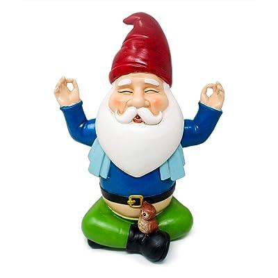 Hilarious Home Funny Outdoor Lawn Garden Buddha Zen Gnome Statue : Garden & Outdoor
