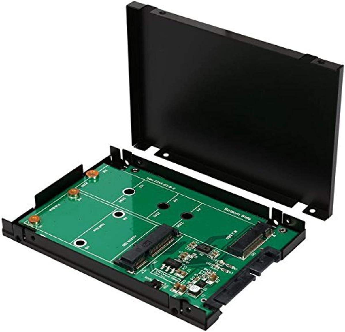 MeterMall Solid State Drive SSD M.2 B-Key and MSATA 2-in-1 to SATA 3.0 Riser Card Electronic and Accessories