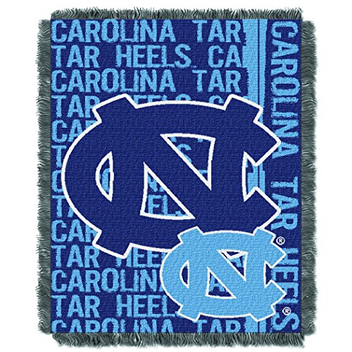 UNC OFFICIAL Collegiate, Double Play 46 x 60 Triple Woven Jacquard Throw ()
