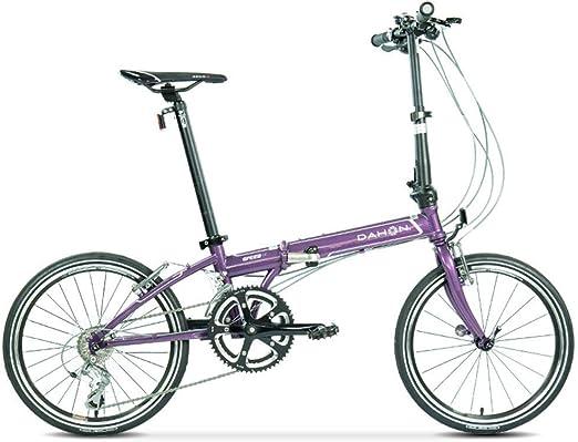 Qinf - Bicicleta plegable unisex de 20 pulgadas (color lila ...