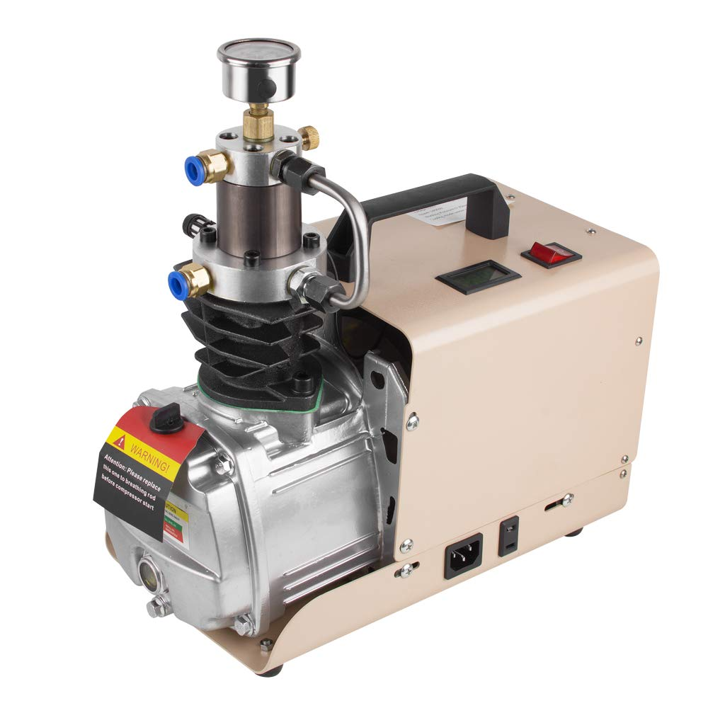 ixaer High Pressure Air Pump 30Mpa Electric Air Compressor Pump 110V 1800W Work Flow 80L/min