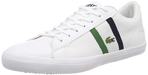 bc3ed4a3eddbb Amazon.com | Lacoste Lerond 119 3 Mens White/Navy Sneakers | Fashion ...