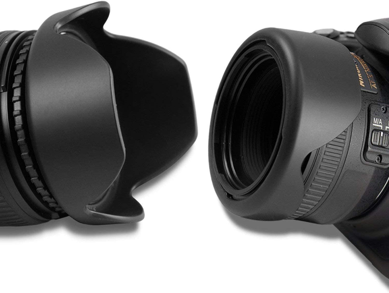 55-250mm 85mm f//1.8 55-200mm 28mm f//2.8 18-250mm 65mm f//2.8 24mm f//2.8 28mm f//1.8 70-300mm 100-300mm 50mm f//1.4 58mm Reversible Tulip Lens Hood for Canon 18-55mm EF 100mm f//2 75-300mm