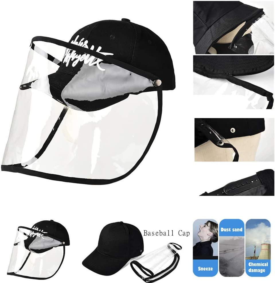 Clear Shield Clear Shield Anti-Spitting Hats Helmet Shy All-Purpose Face Shield Dustproof Breathable Face Cover Airsoft Paintball Snowboard Cycling Mask A