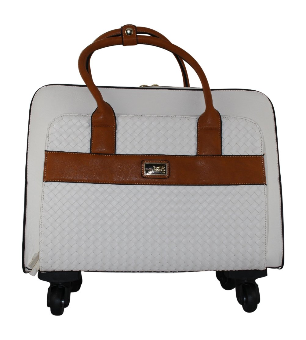 Simply Noelle Company Retreat Travel Roller Bag (White)