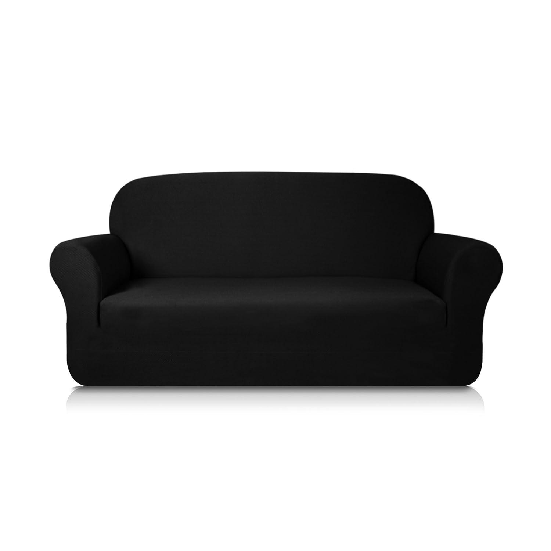 Subrtex 1-Piece Knit Jacquard Spandex Stretch Sofa Slipcovers (Chair, Coffee) Shaoxing Yuanyi Household Co. Ltd. sofa slipcover 25