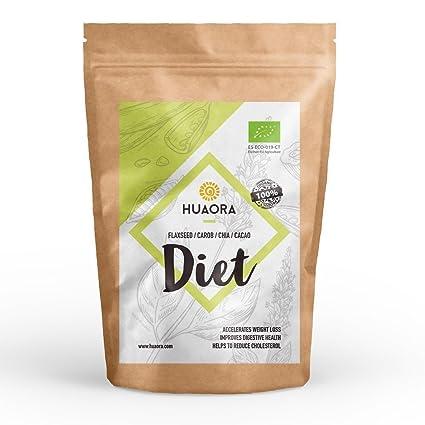 Superfoods: Lino, Algarroba, Cacao, Chia, Azucar de Coco - efecto saciante
