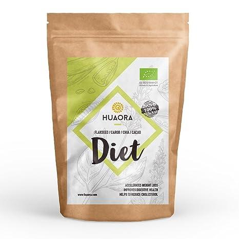 Huaora Diet - Lino, Algarroba, Cacao, Chia, Azucar de Coco - efecto