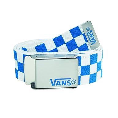 d85acb8ca4 Vans Belt Deppster Web Belt Blue White  Amazon.co.uk  Sports   Outdoors