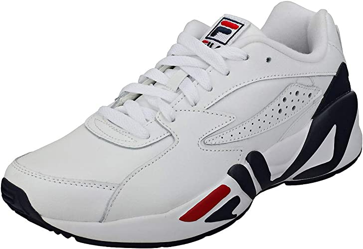 | Fila Mens WhiteNavy Red Mindblower Sneakers
