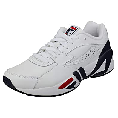 Amazon.com | Fila Mens White/Navy / Red Mindblower Sneakers ...