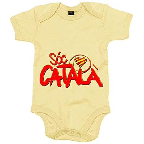 Body bebé sóc català - Amarillo, 6-12 meses: Amazon.es: Bebé