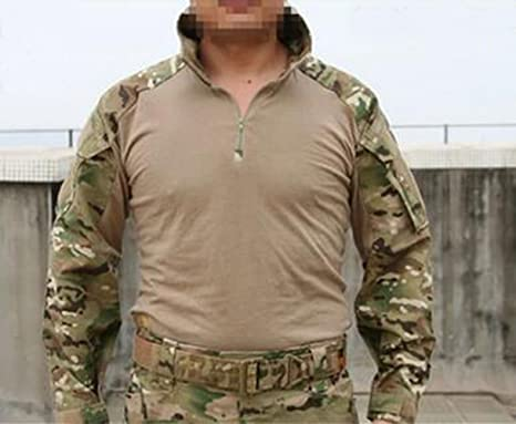 Hombre primitivo Hombres Militar Airsoft BDU camisa combate Gen3 táctica camisa Multicam, CP: Amazon.es: Deportes y aire libre
